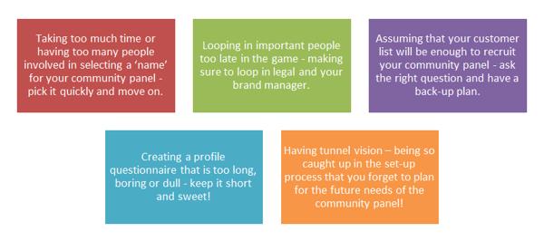 5 common stumbling blocks in setting up a community panel