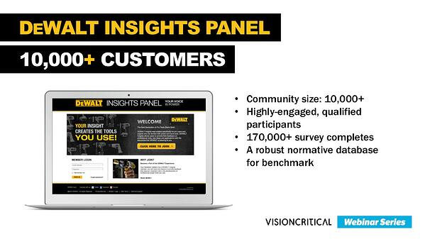DEWALT Insights Panel - innovation strategy lessons from DEWALT