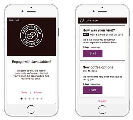 Engage mobile application - Vision Critical's customer intelligence platform
