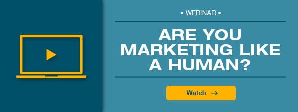 webinar ad- are you marketing like a human